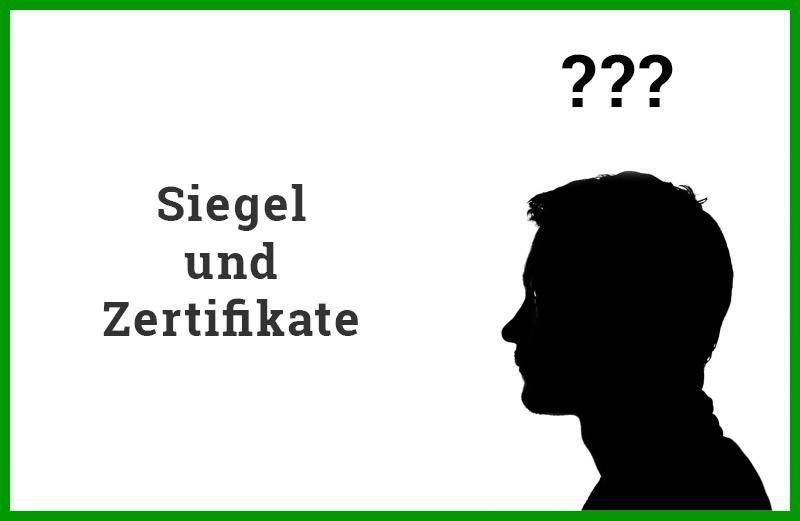 Siegel und Zertifikate biologisch/nachhaltiger Werbeartikel