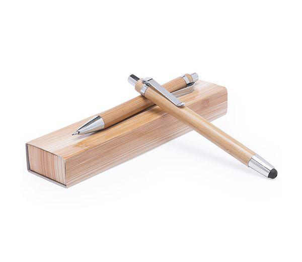 Bambus Schreibset mit Kugelschreiber und Druckbleistift
