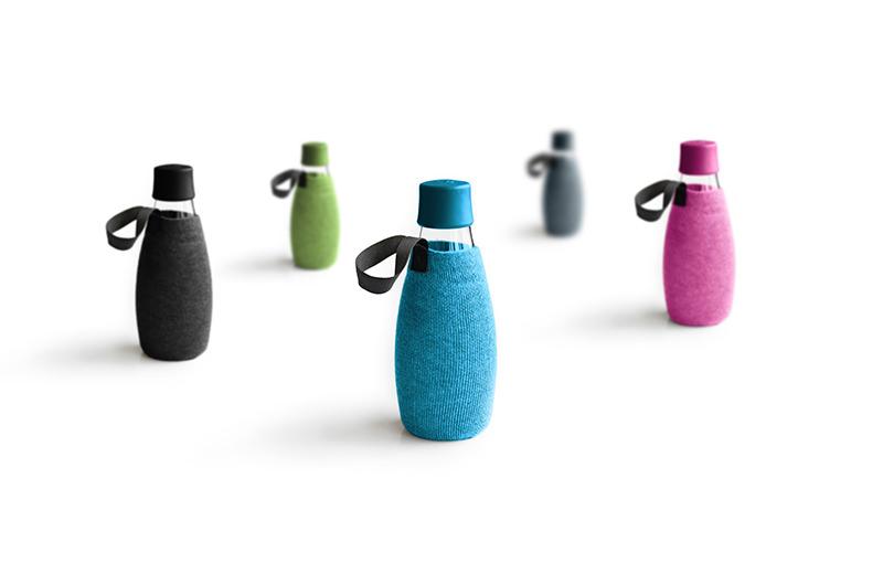 Designer Glasflaschen mit Überzug