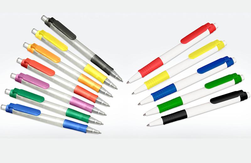 Kugelschreiber weiss und gefrostet