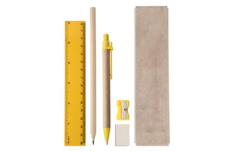 Büro / Schreibset gelb