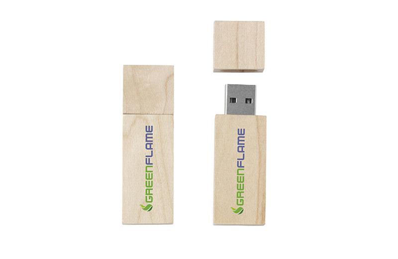 USB Stick - helles Holz