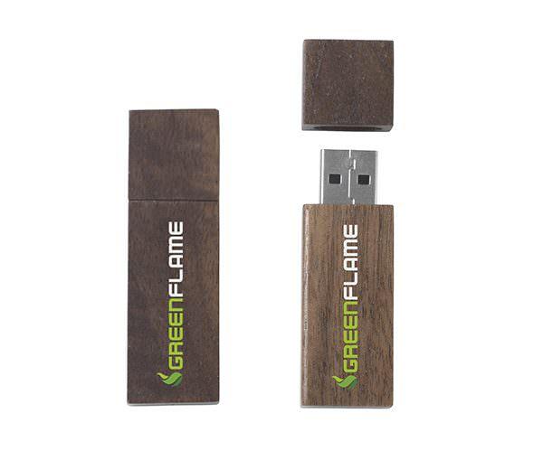 USB Stick - dunkles Holz
