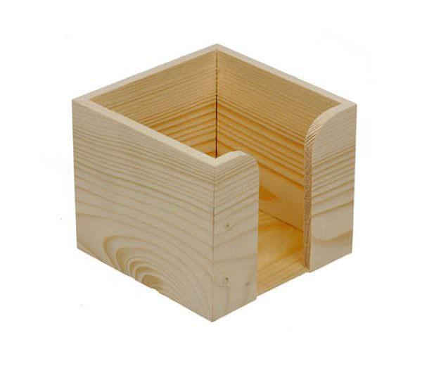Holz Zettelbox ohne Papier