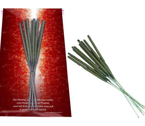 Weihnachtskarte mit Wunderkerzen