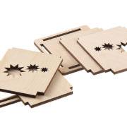 Holz Windlicht Einzelteile