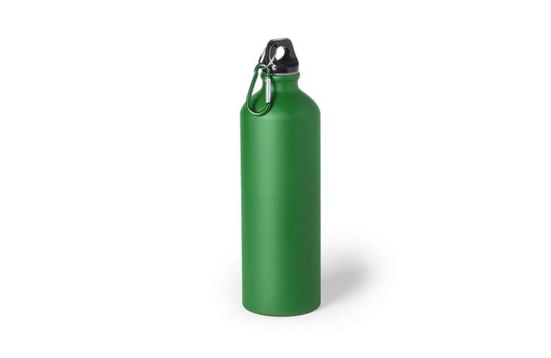 Große Alu-Trinkflasche grün