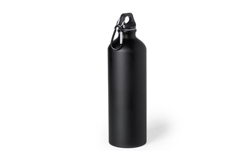 Große Alu-Trinkflasche Schwarz