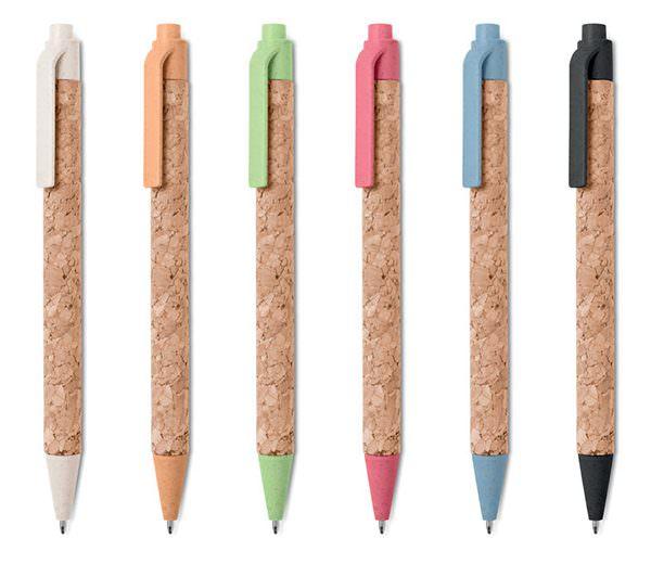Kork-Kugelschreiber alle Farben