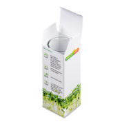 Pflanz Glas Verpackung offen