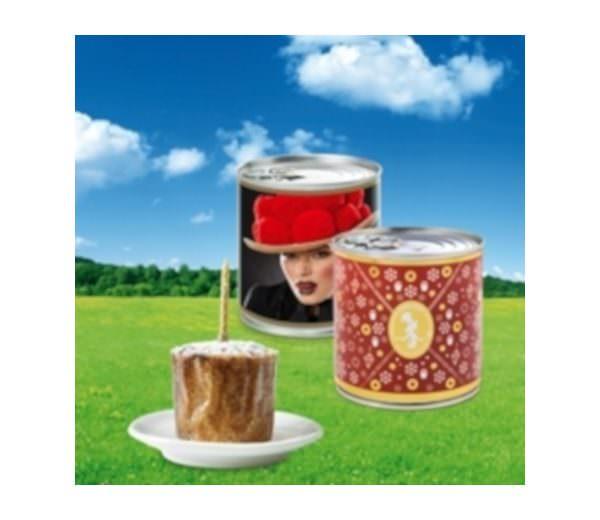 Kuchen in Geschenkdose