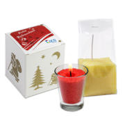 Kerzenglas und Kerzensand Set