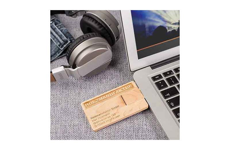 USB Stick Card Wood
