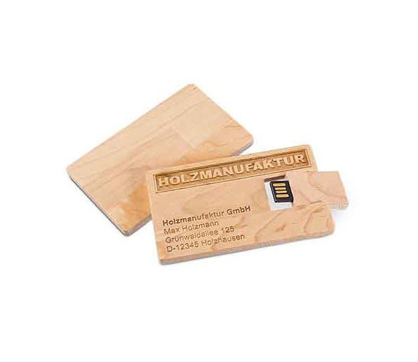 USB Card Wood