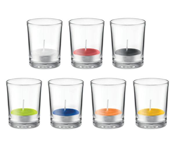 Duft Teelicht im Glas - alle Farben