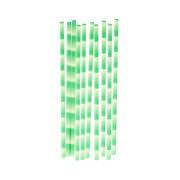 Bambus Trinkhalm-Set, grünes Bambus Design