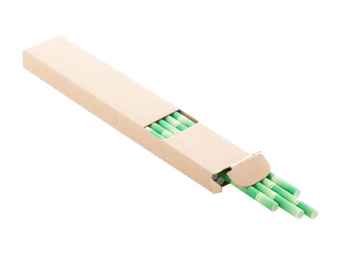 Bambus Trinkhalm-Set in Pappschachtel
