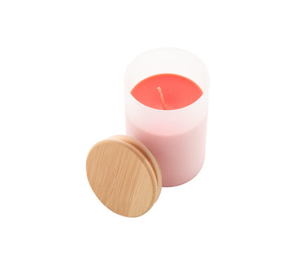 Bamboo Duftkerze im Glas rot