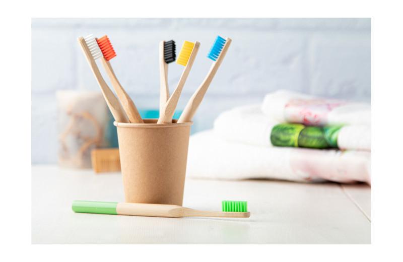 Bambus Zahnbürste Budget im Becher