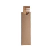 Natur Bambus-Kamm in Kraftpapier Verpackung