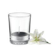 Duft Teelicht im Glas, schwarz