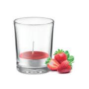 Duft Teelicht im Glas, Erdbeerduft