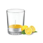 Duft Teelicht im Glas, gelb
