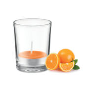 Duft Teelicht im Glas, orange