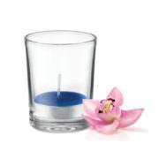 Duft Teelicht im Glas, königsblau
