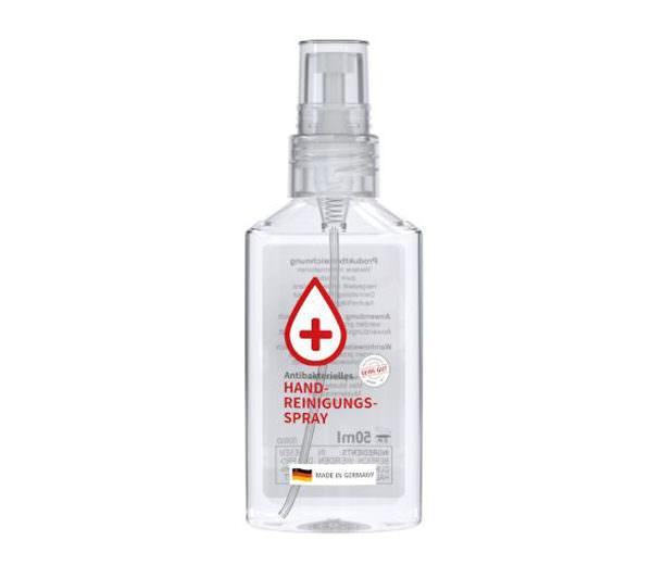 50 ml Antibakterielles Handreinigungsspray in rPET-Flasche