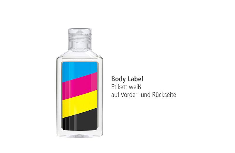 Antibakterielles Handreinigungsgel 50 ml in rPET-Flasche