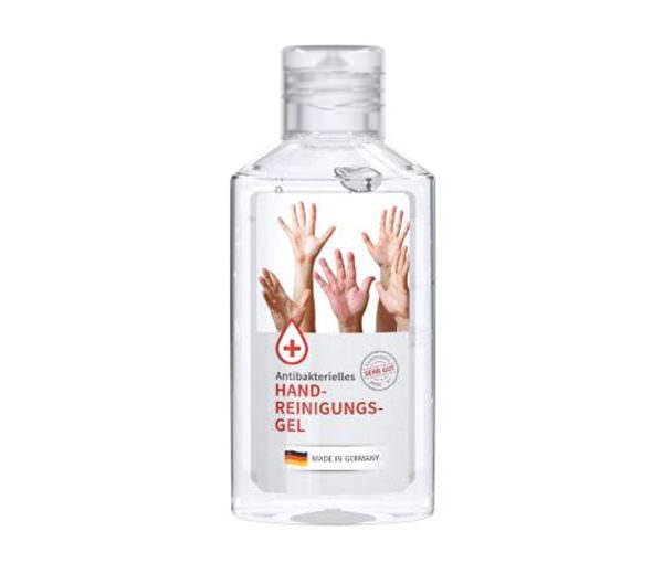 Antibakterielles Handreinigungsgel in rPET-Flasche