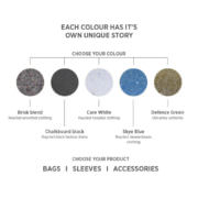 Upcycle Textil Notizbuch große Farbvielfalt