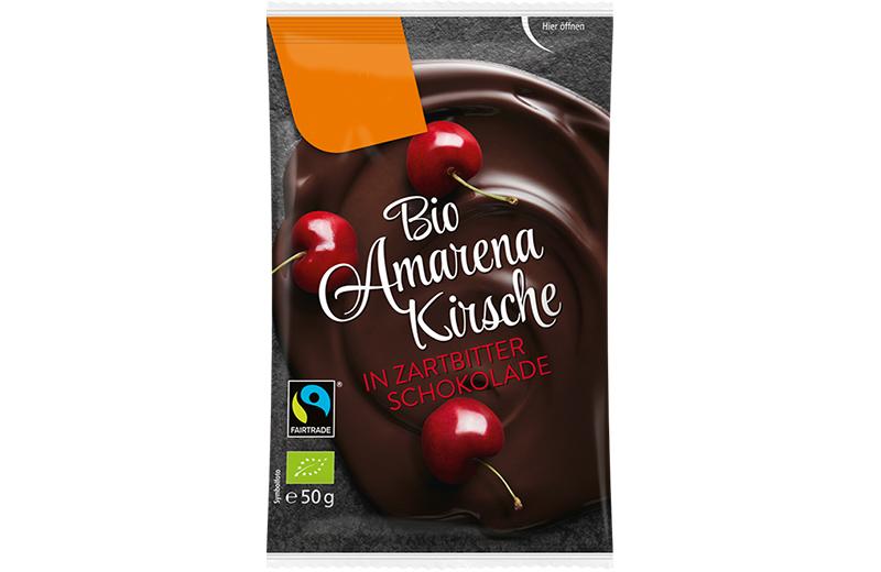 Schokoladen Früchte Bio Amarenakirsche in Zartbitter Schokolade