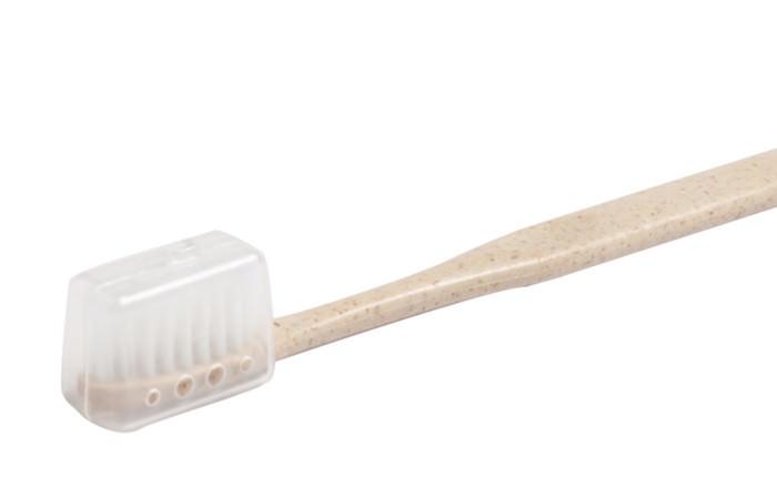 Nachhaltige Zahnbürste Idol mit Borstenschutz-Hülle