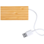 Bambus-Holz USB-Hub Natur