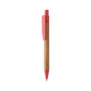 Boho Bambus-Kugelschreiber rot