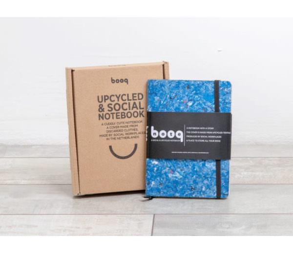 Upcycle Textil Notizbuch