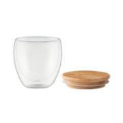 Edel Bambus Borsilikat-Glas small, mit Deckel