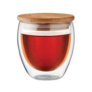 Edel Bambus Borsilikat-Glas small, Doppelwandig