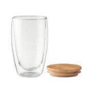 Bambus Borsilikat-Glas large, mit Bambus Holzdeckel