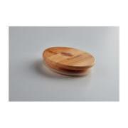 Nachhaltiger Bambus-Holzdeckel, mit Werbefläche