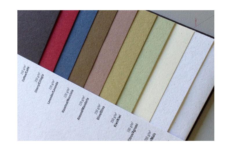 Notizbuch aus landwirtschaftlichen Abfällen Pastellfarben