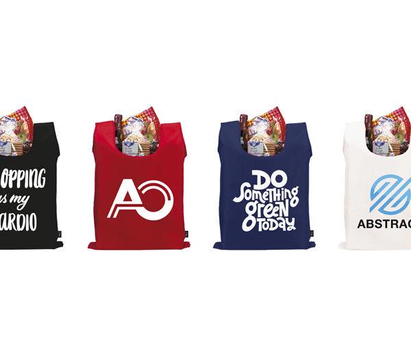 Faltbare rPET Tasche mit Etui alle Farben