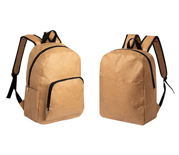 Kraftpapier-Rucksack mit großer Werbefläche - beide Modelle