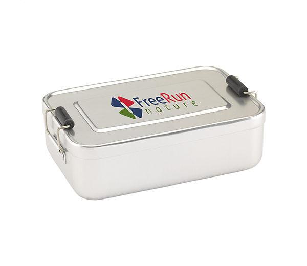 Lunchbox aus Edelstahl geschlossen