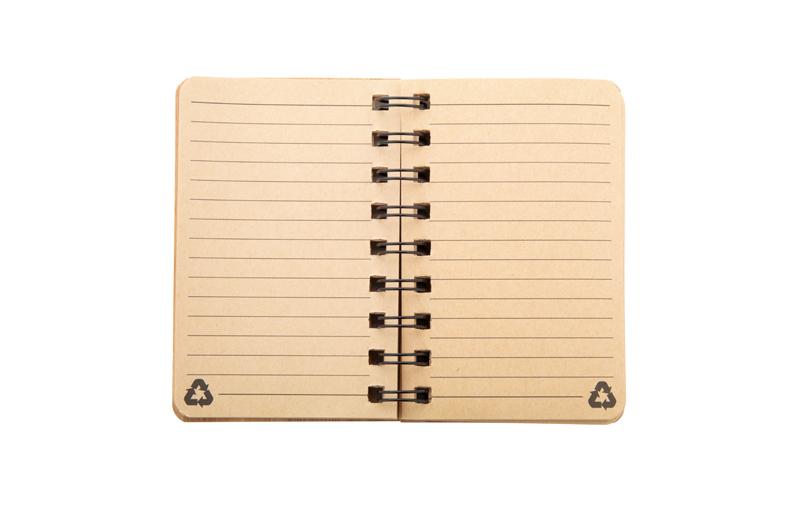 Notizbuch mit Bambuscover - linierte Seiten