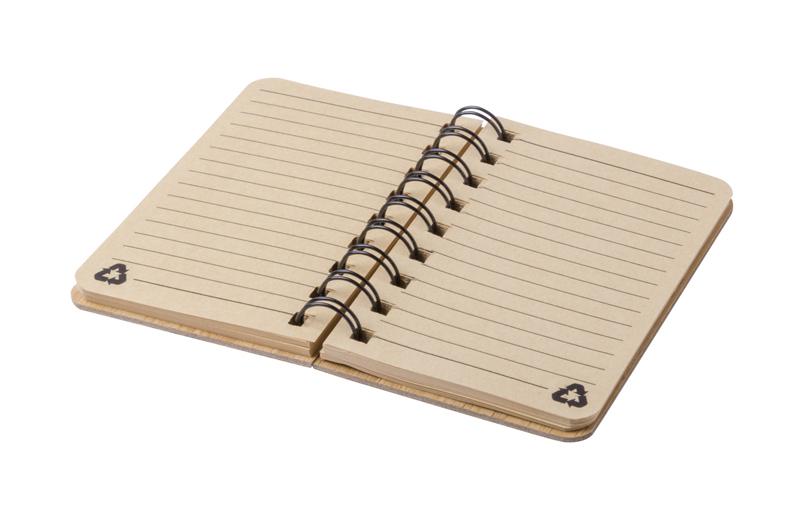 Notizbuch mit Bambuscover offen
