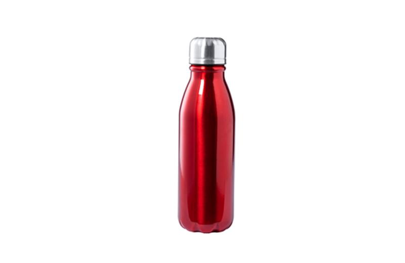 Alu-Flasche Einwandig rot BUDGET