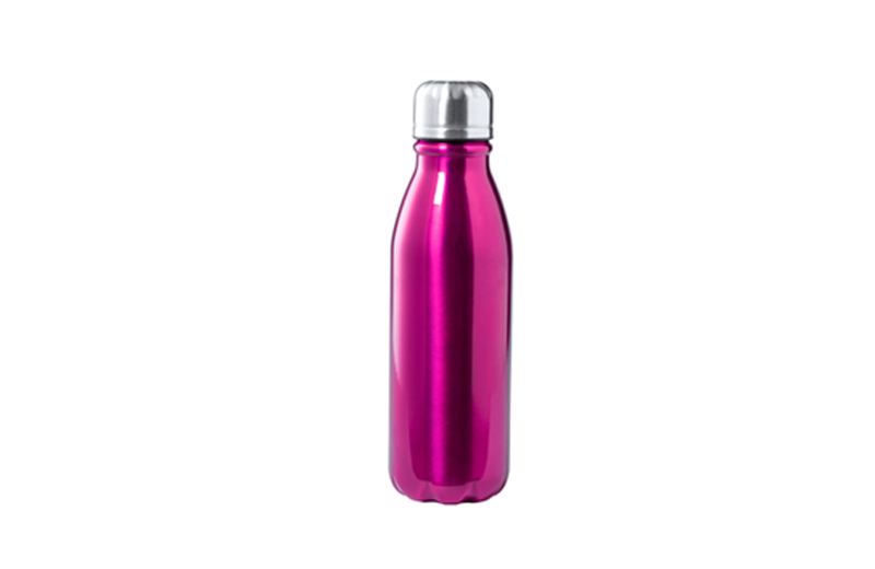 Alu-Trinkflasche BUDGET lila Werbemittell